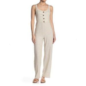 Romeo & Juliet Couture | NWOT Linen Blend Jumpsuit